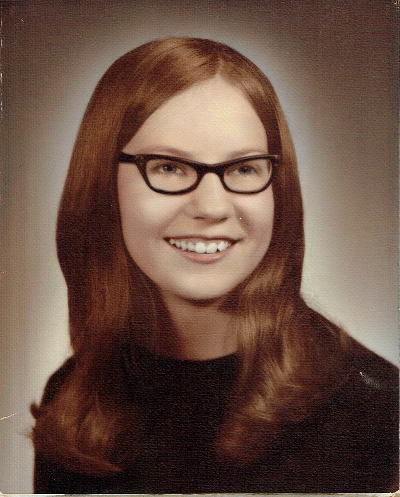 Diana's mom's vintage high school senior portrait.