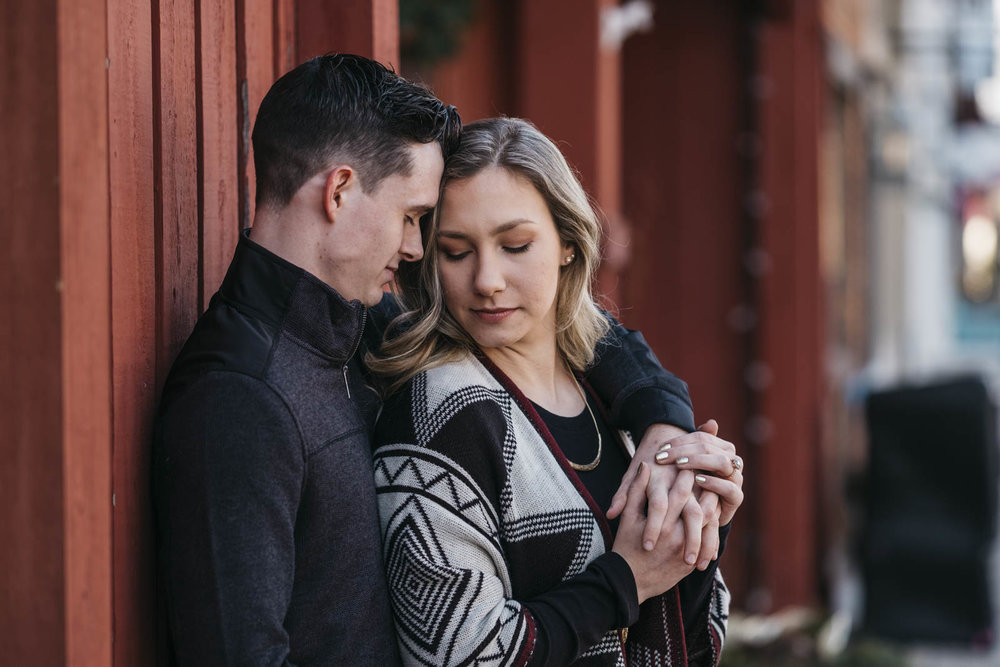 Downtown Sylvania engagement session in late February.