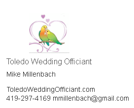 Come meet Mike from Toledo Wedding Officiant and watch him do his thing during our faux wedding at Anchored! He'll be available to talk ceremony options and what would be best for your big day!