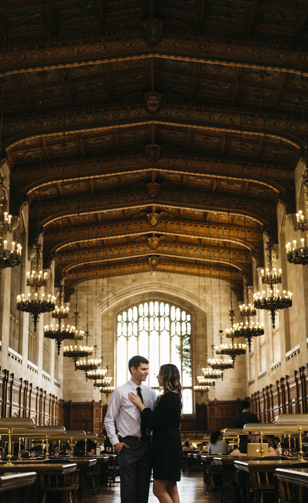 Engagement session at University of Michigan.