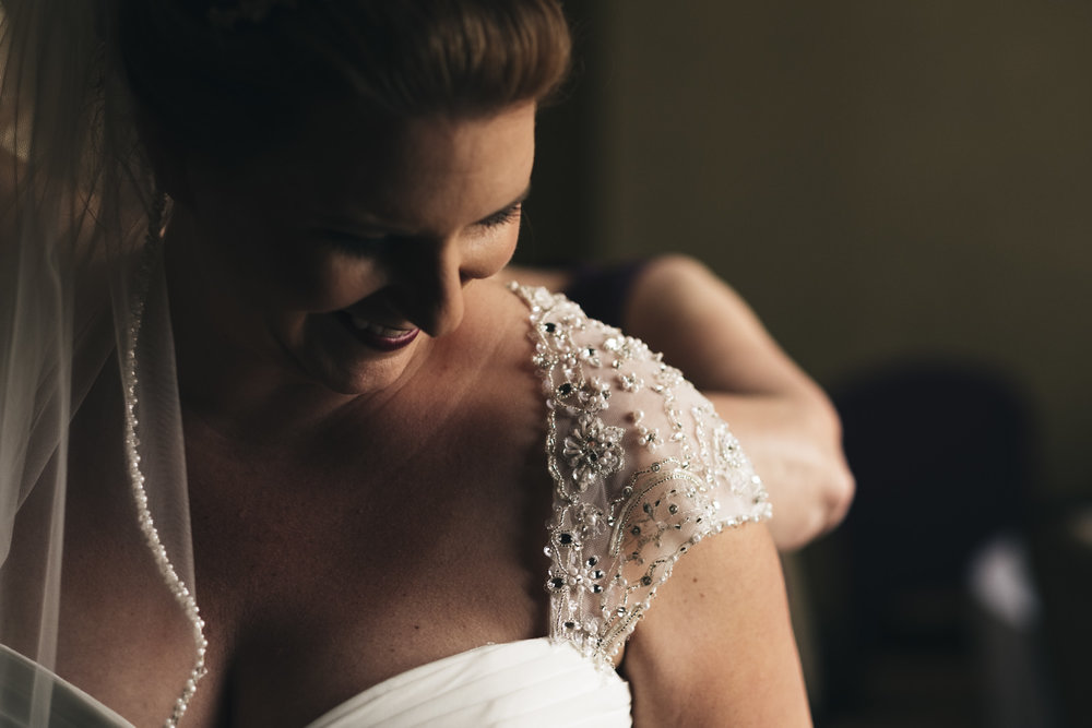 Bride in dress from Belle Amour Bridal