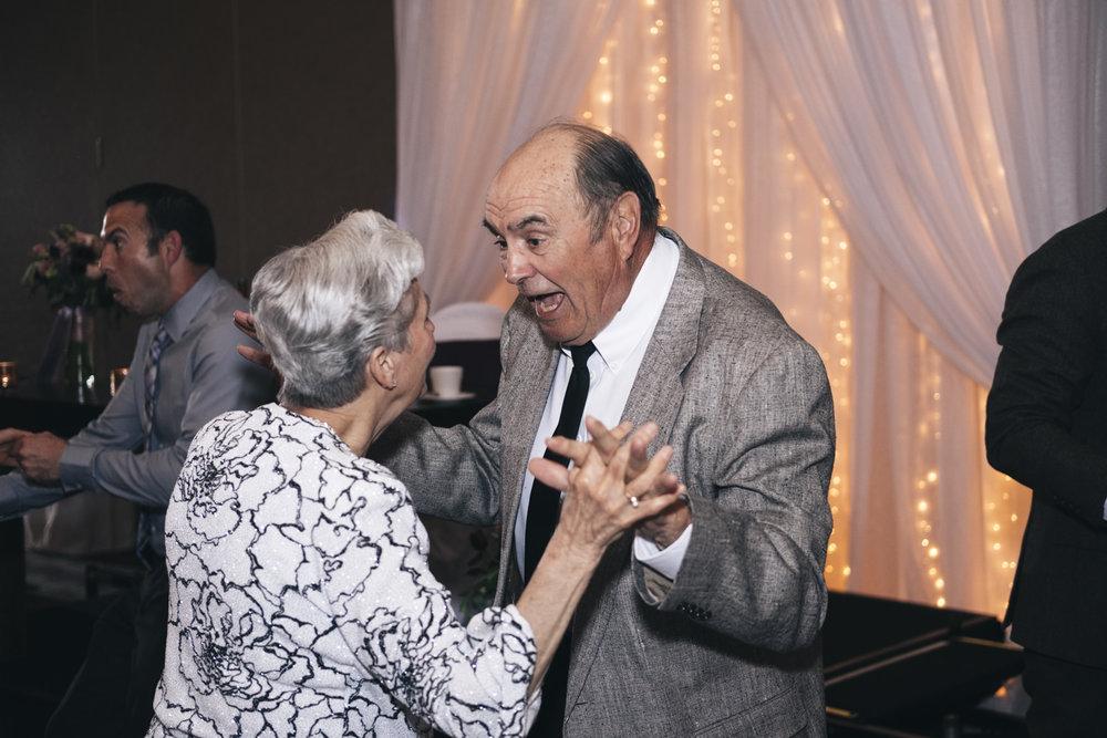 Sweet couple dancing at wedding reception in Toledo, Ohio.