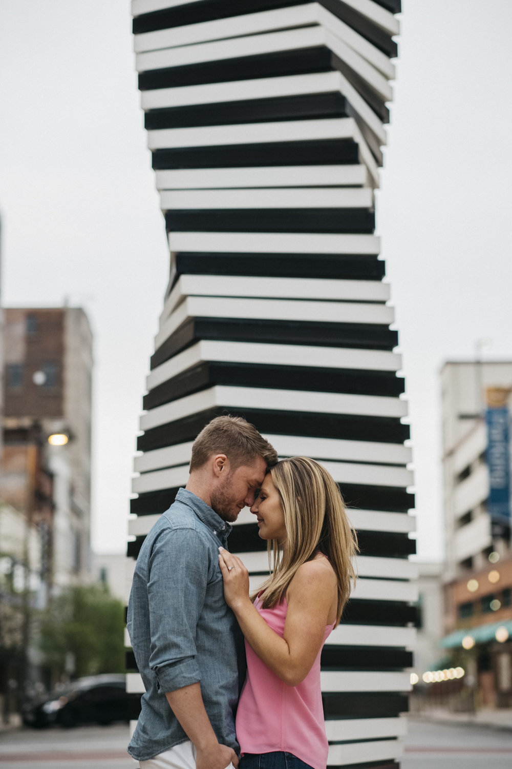Downtown Toledo engagement session photography.