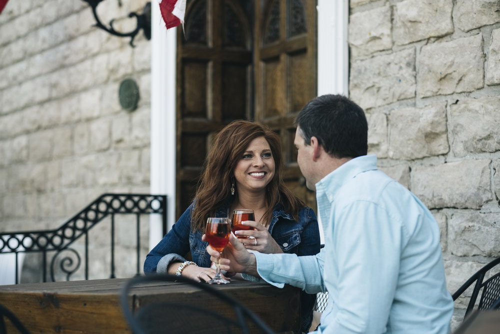 Engagement session at a winery in Ohio.
