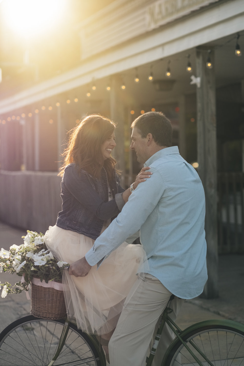 Sunset engagement session photography in Marblehead, Ohio.
