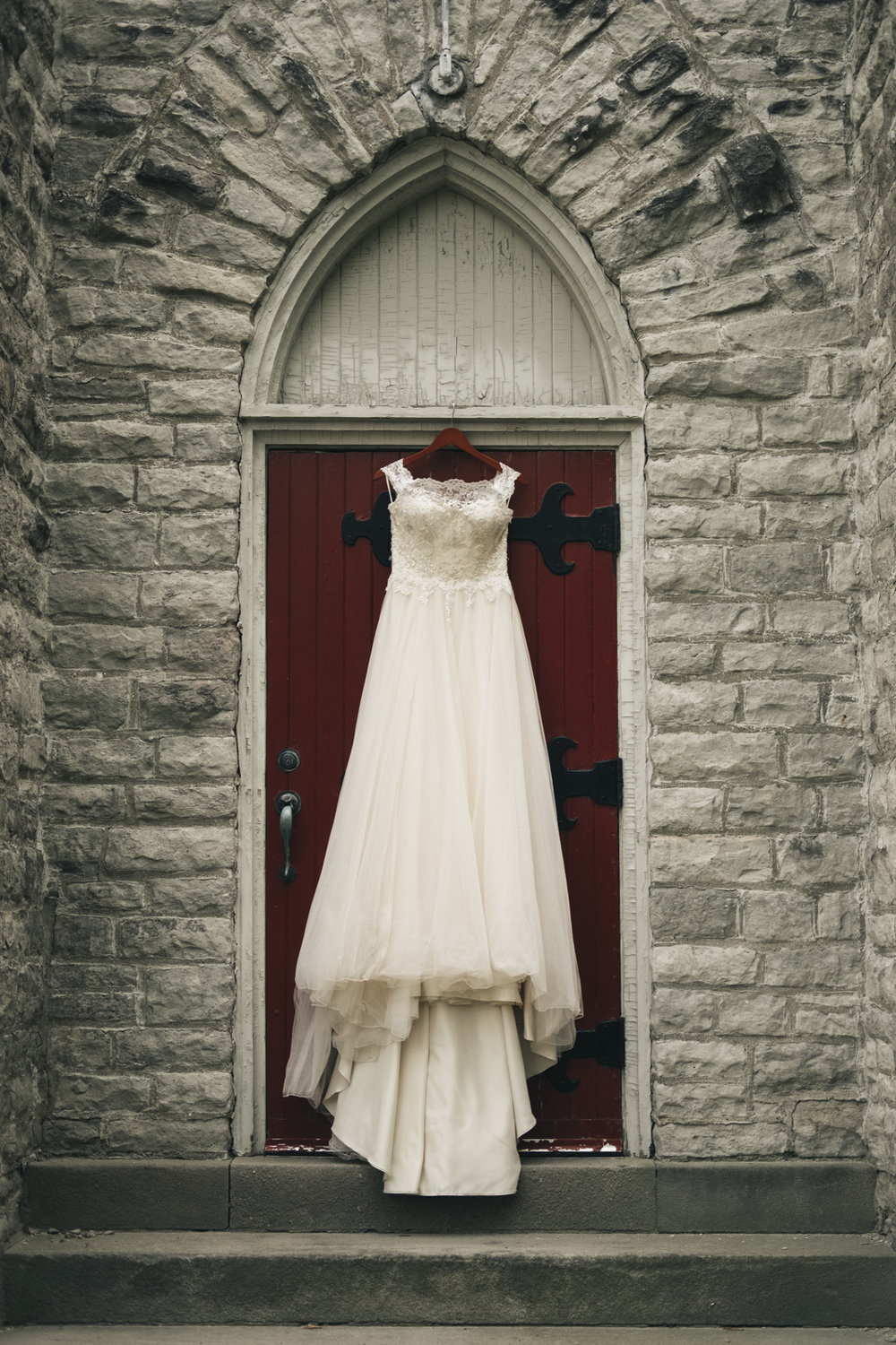 Wedding gown from Belle Amour Bridal in Toledo, Ohio.