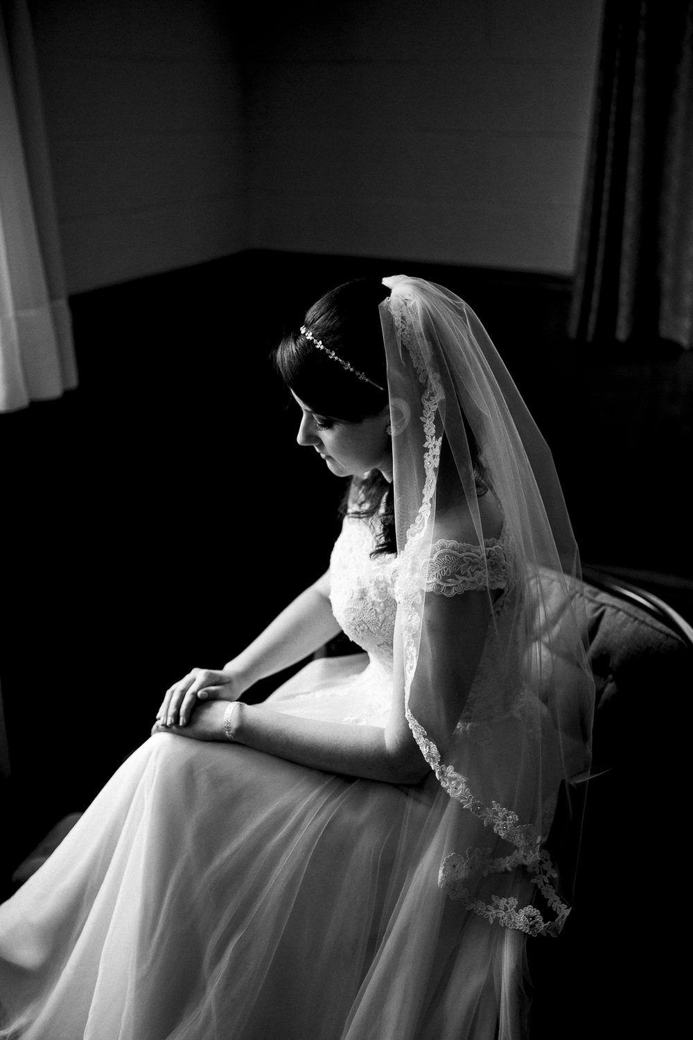 Beautiful bride on wedding day.