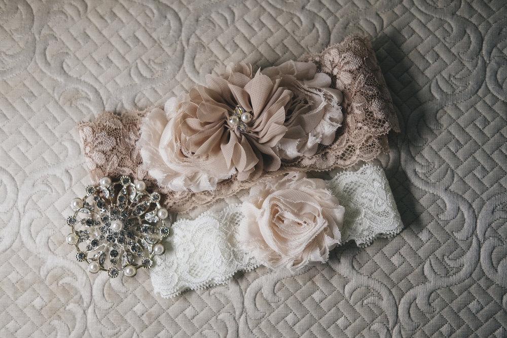 Bride's blush wedding details inspiration.