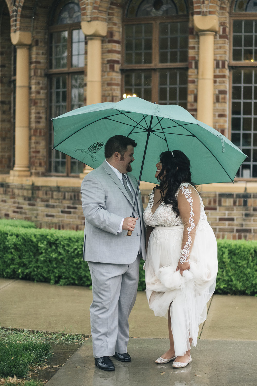 Rainy wedding day photography at Nazareth Hall.