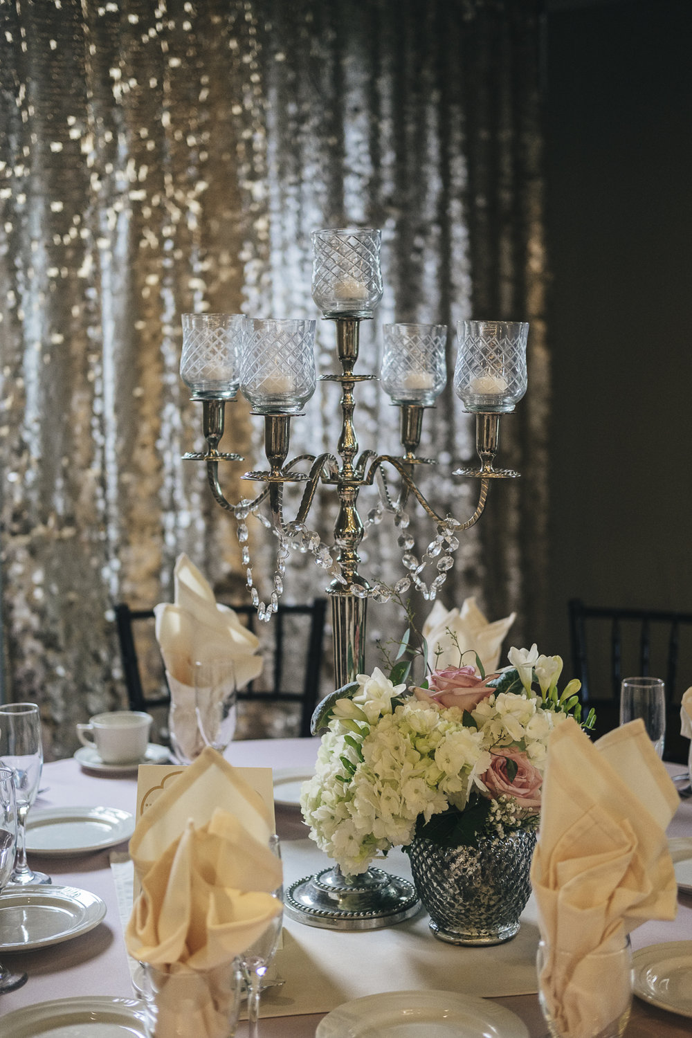 La Boutique Nostalgie wedding reception decor.