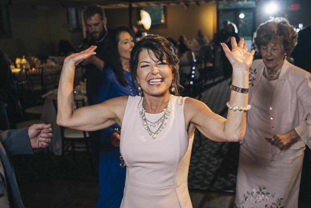 Dancing to bookthatdj.com at Nazareth Hall wedding reception.