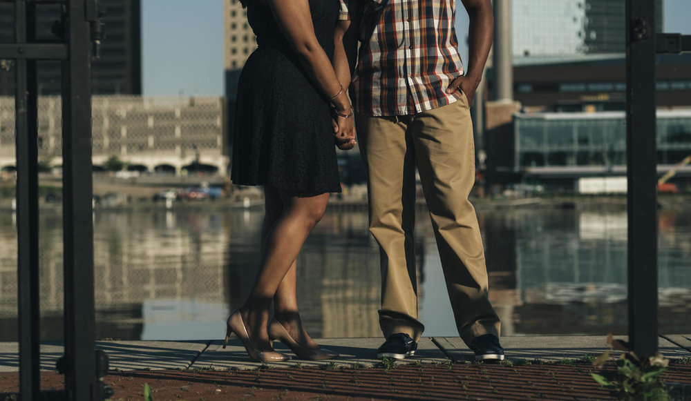 Engagement session at The Docks in Toledo, Ohio.