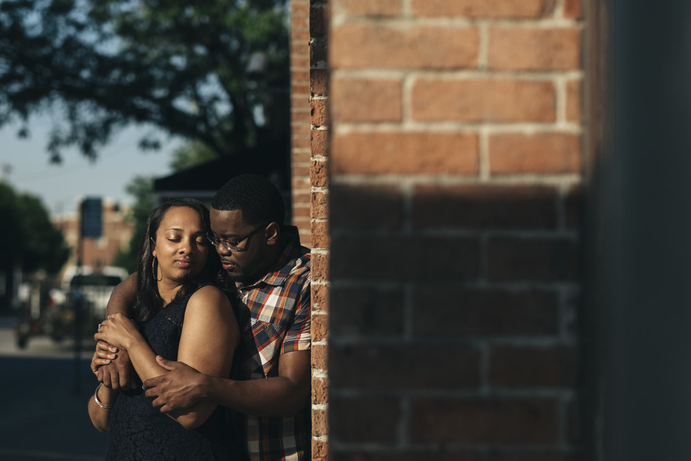 Engagement session near Hensville in Downtown Toledo.