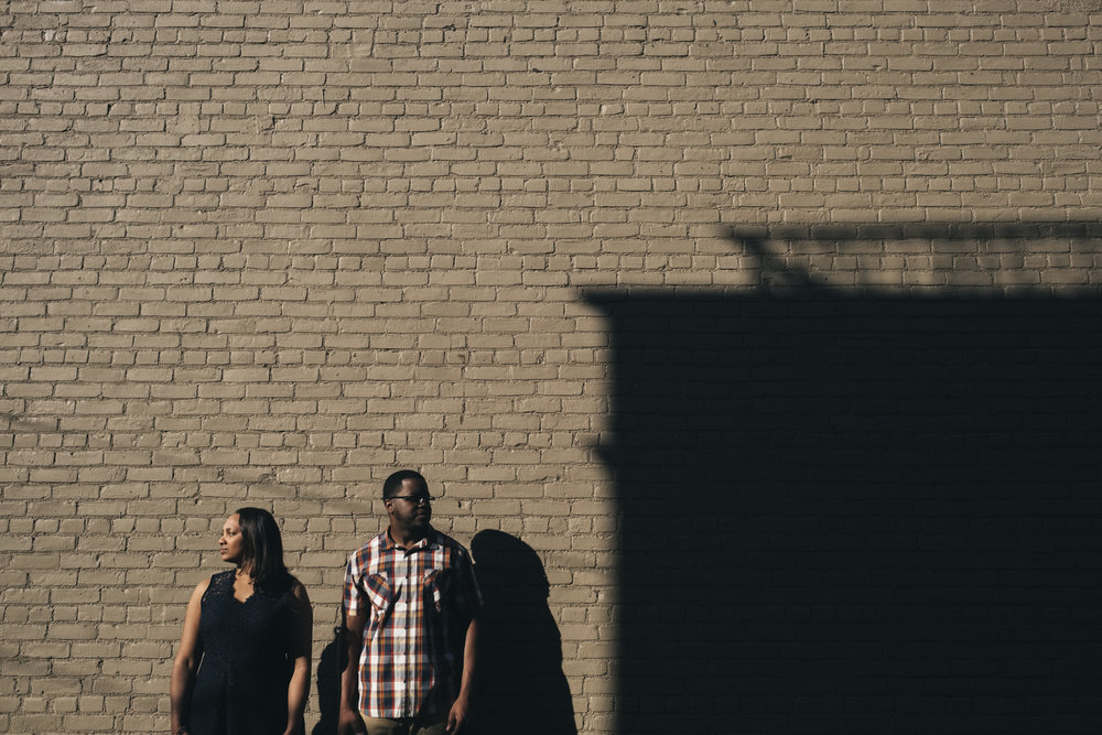 Morning engagement session in Downtown Toledo.