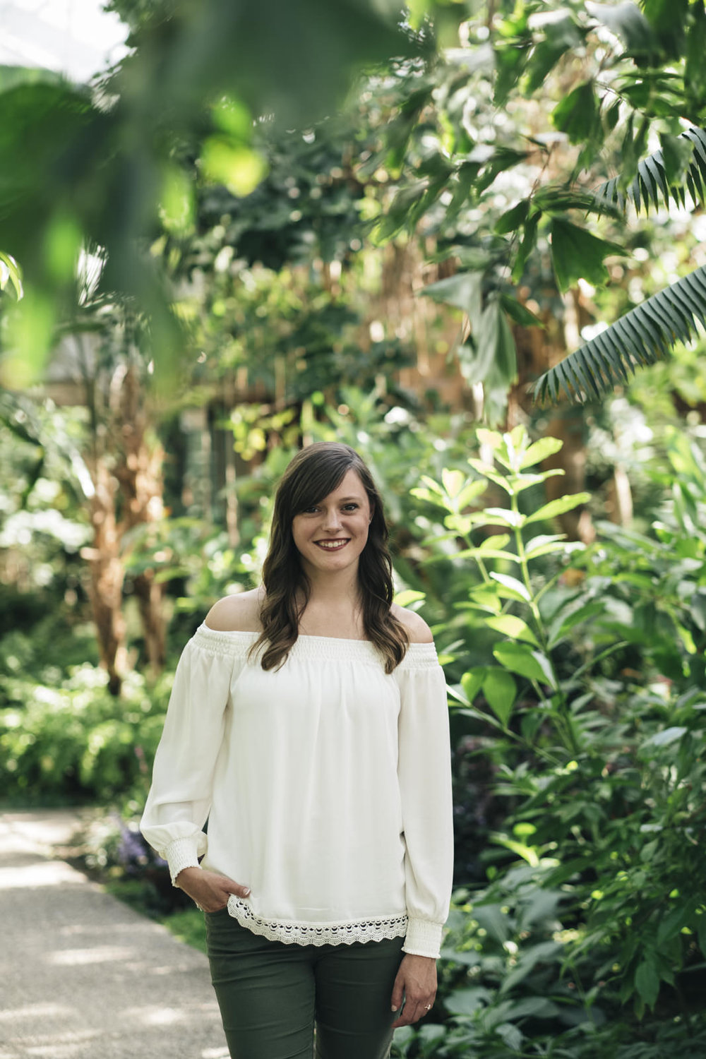 Bridal portrait at Matthaei Botanical Garden