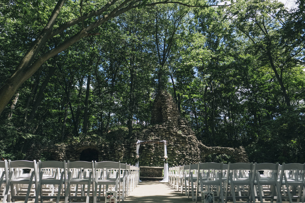 The Grotto at Nazareth Hall for a wedding ceremony.