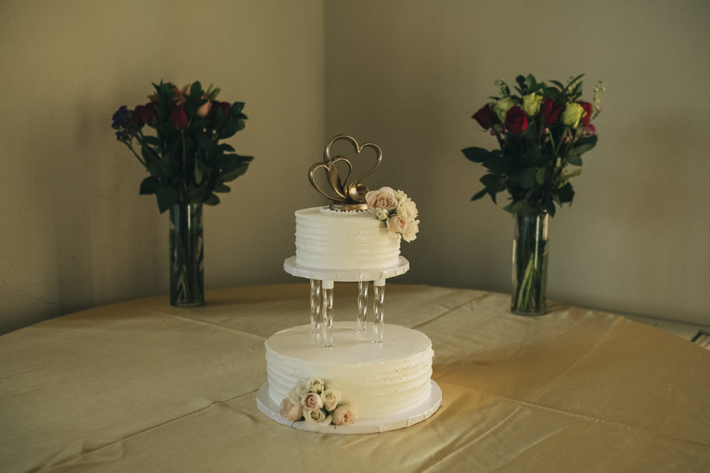 Eston's Bakery wedding cake at Nazareth Hall wedding.