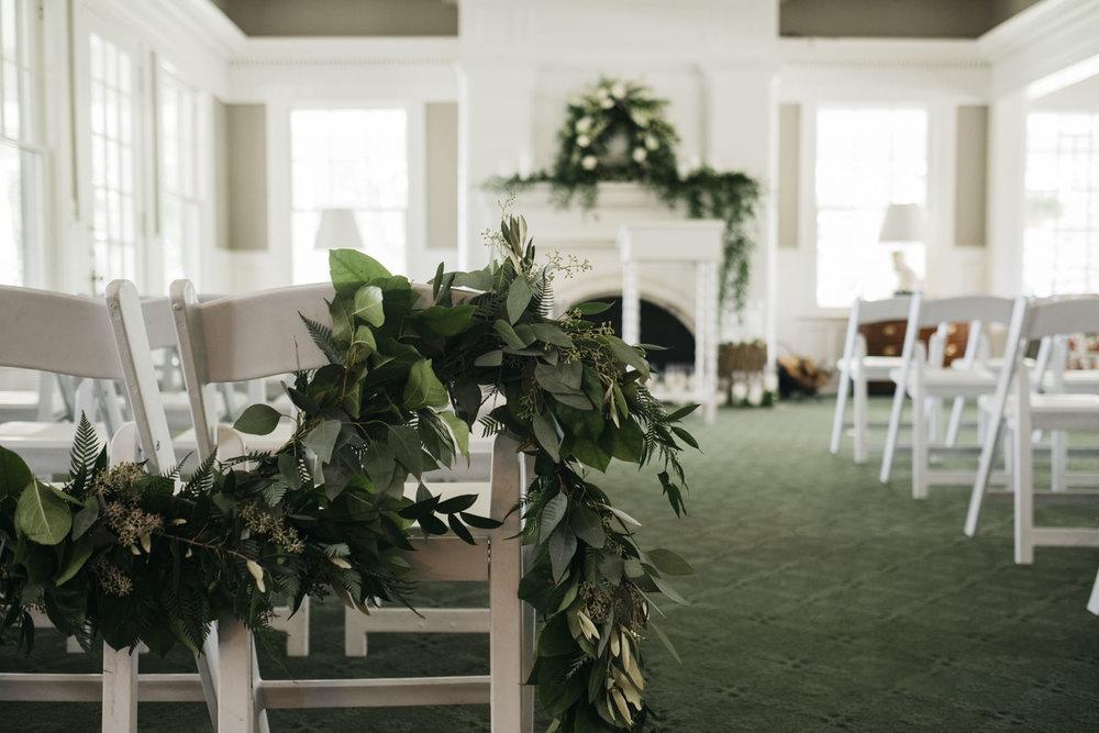 The ceremony design for Toledo, Ohio wedding