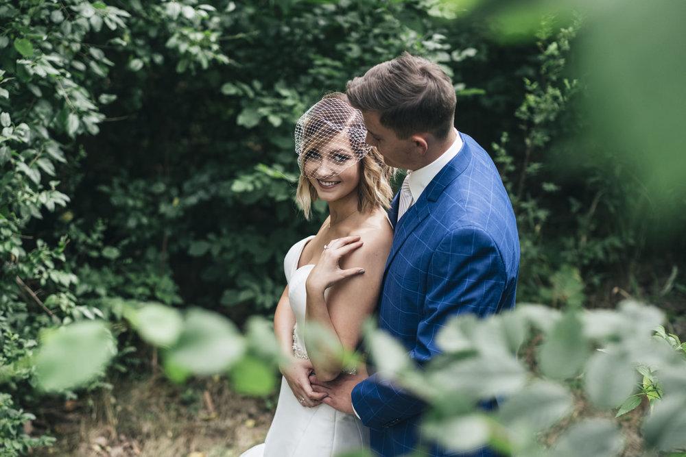 Bride and groom wedding photography at Harroun Park in Sylvania, Ohio.