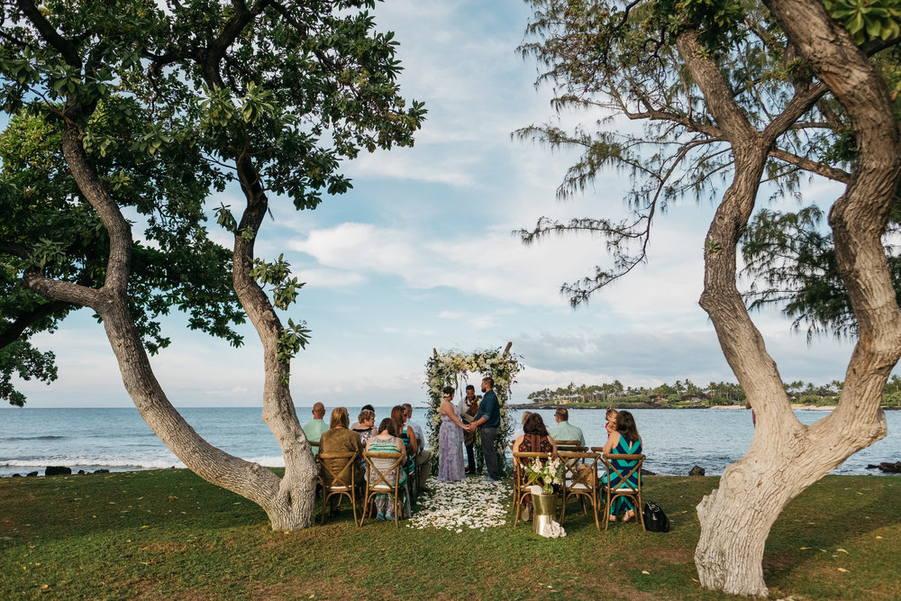 Wedding ceremony on the big island of Hawaii