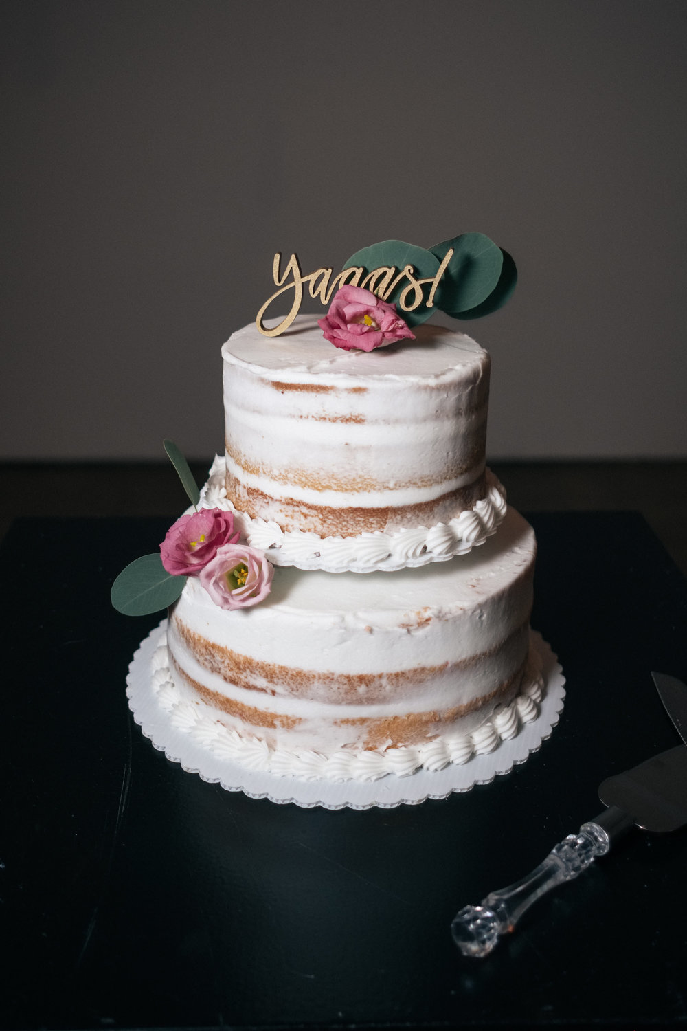 Wedding cake for destination wedding