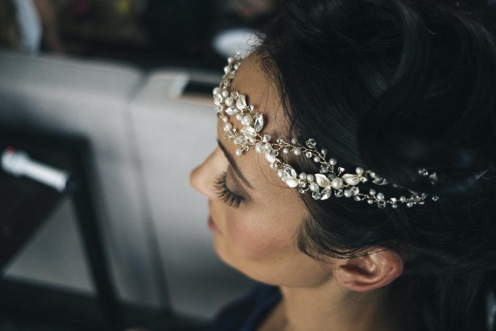 Beautiful bridal crown.