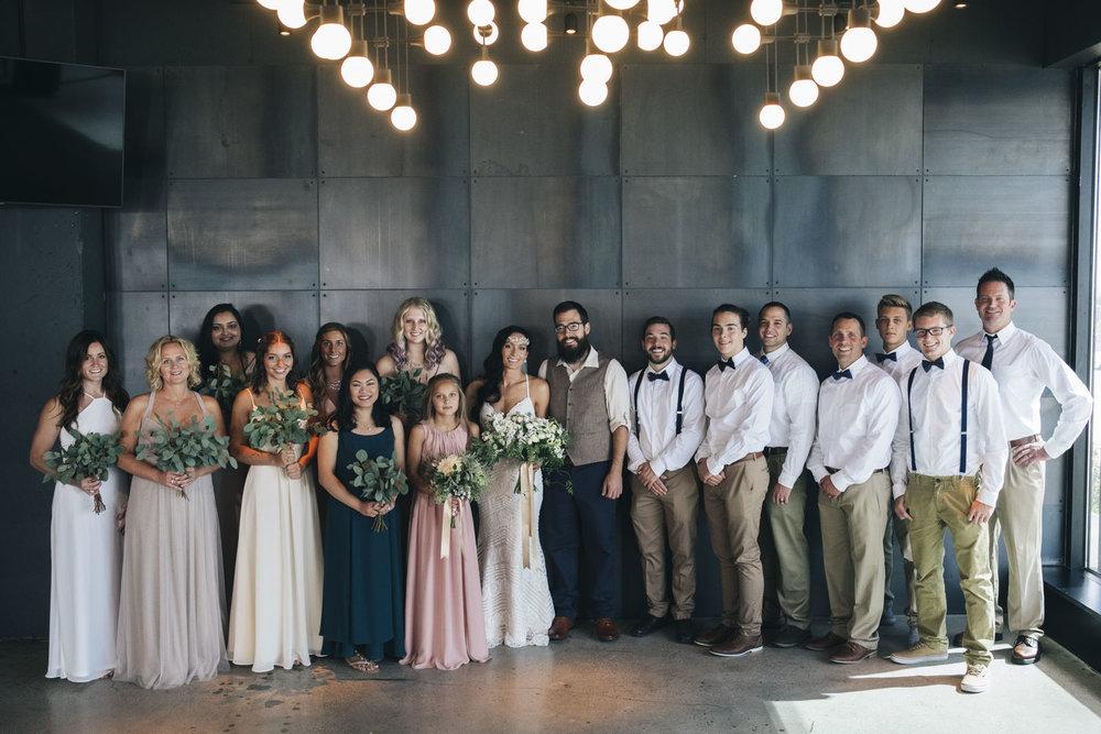 Bridal party wedding photography at Renaissance Hotel Downtown Toledo.