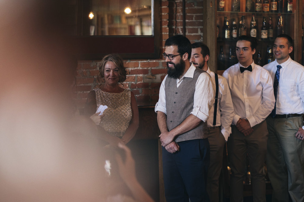 Boho wedding ceremony photography at The Oliver House.