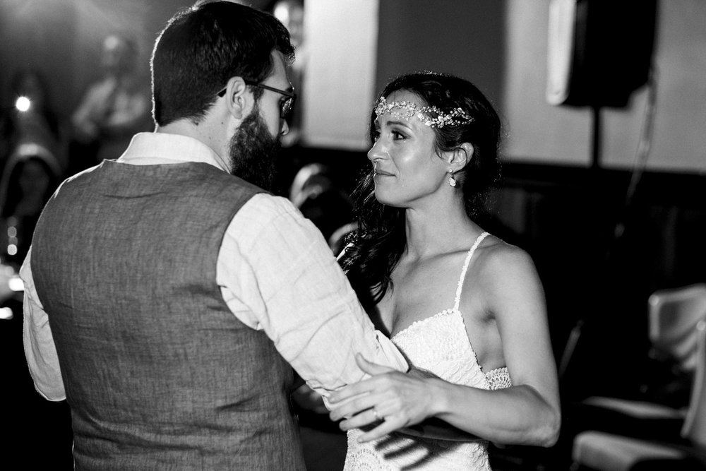 Emotional first dance at The Oliver House wedding reception.