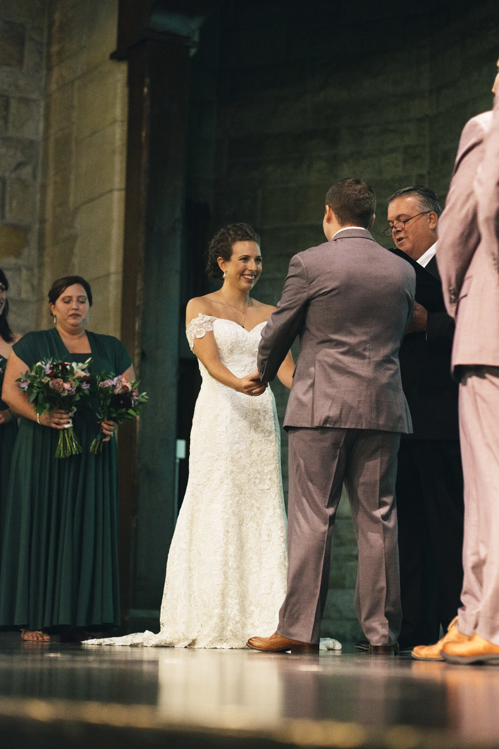 Ohio couple gets married in vintage, historical theater at the Toledo Zoo for their summer wedding in September.