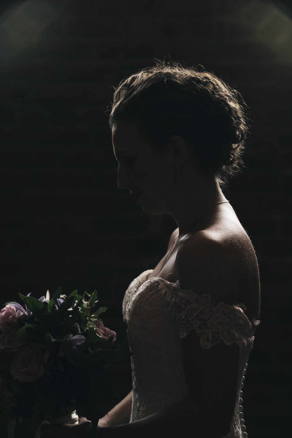 Beautiful bridal portrait before wedding