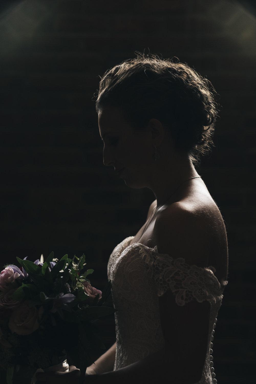Beautiful bridal portrait before wedding