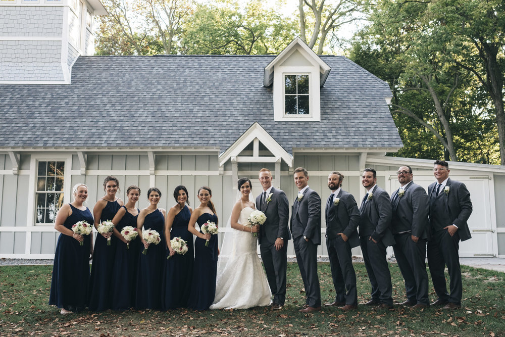 Simply Yours wedding planner for this nautical wedding near Lake Erie in Ohio