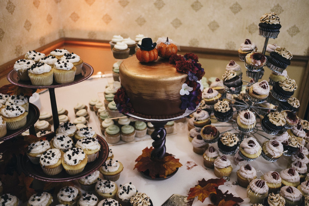 Early fall wedding reception in Northern Ohio