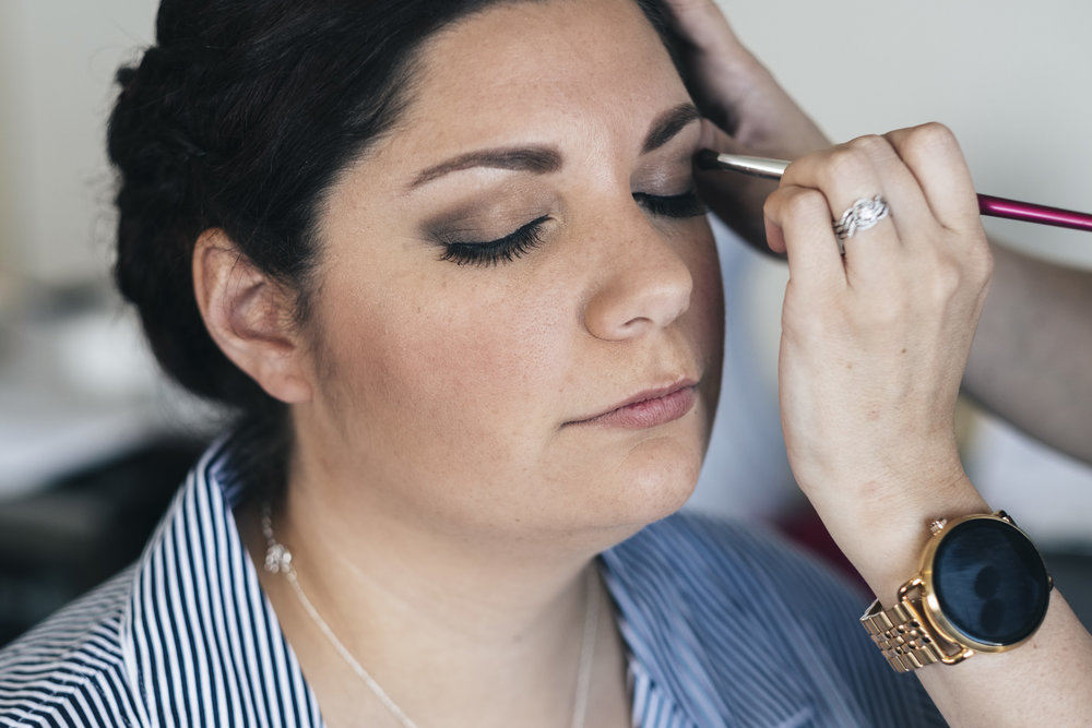 Bride to be gets her makeup down by Toledo makeup artist
