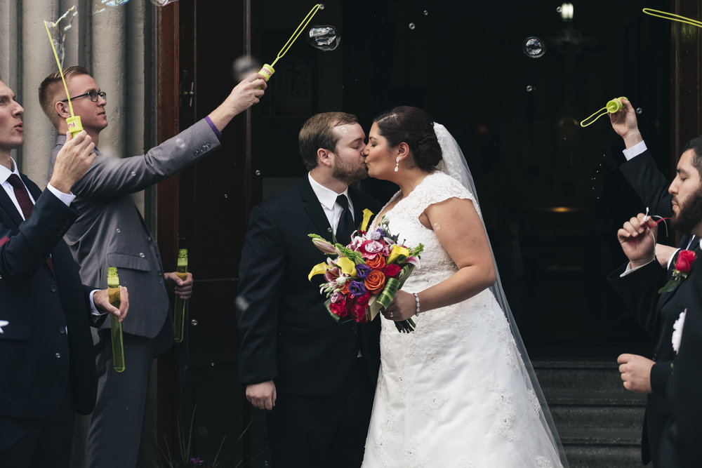 Toledo newlyweds leave church with a big bubble exit