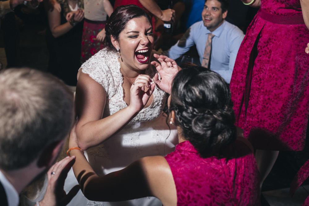 Bride dances at her wedding reception in Toledo Ohio