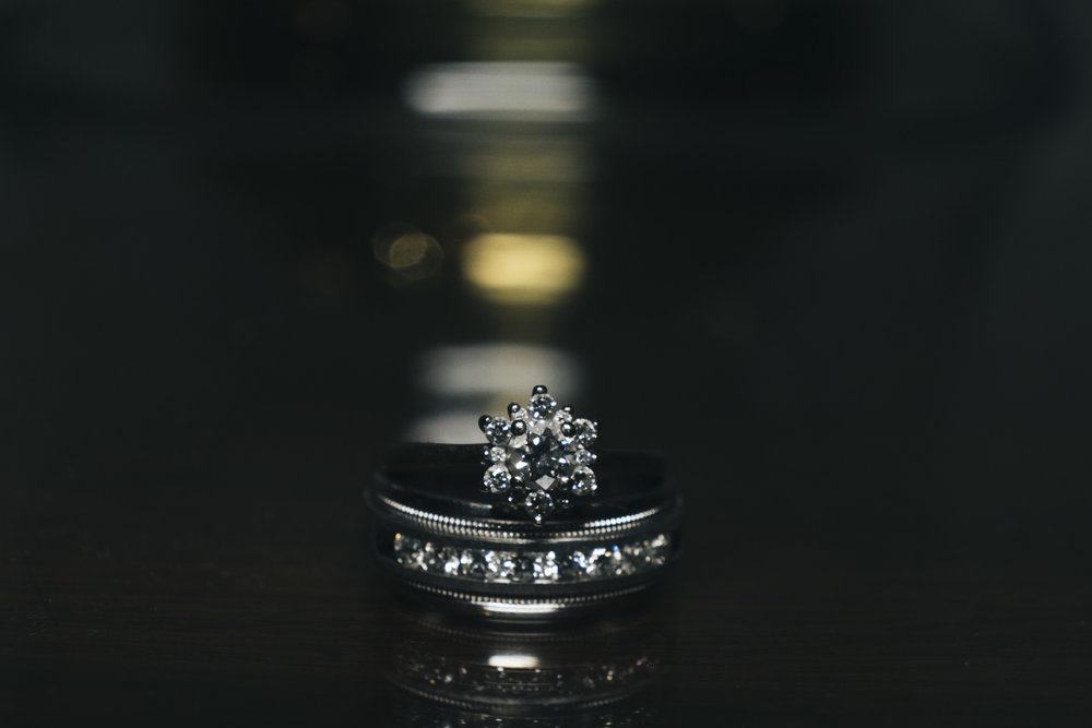 Wedding ring picture inspiration from Belmont Country Club Perrysburg Ohio