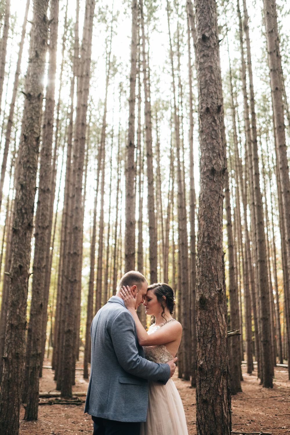 Best places to take wedding pictures include Oak Openings park near Maumee Ohio