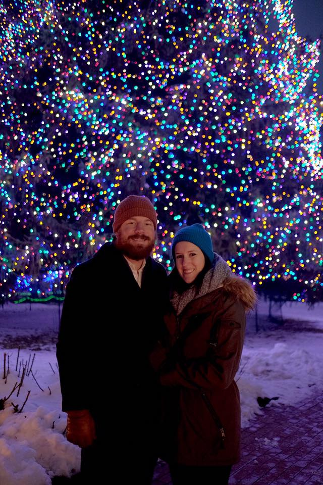 Date night at the Lights before Christmas at Toledo Zoo.