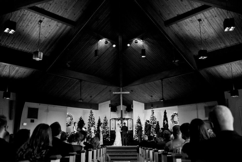 Wedding ceremony at Intersection Church in Toledo, Ohio.