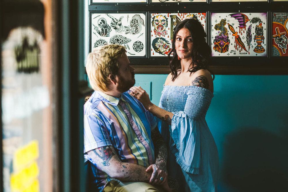 Engagement session in Depot Town, Michigan