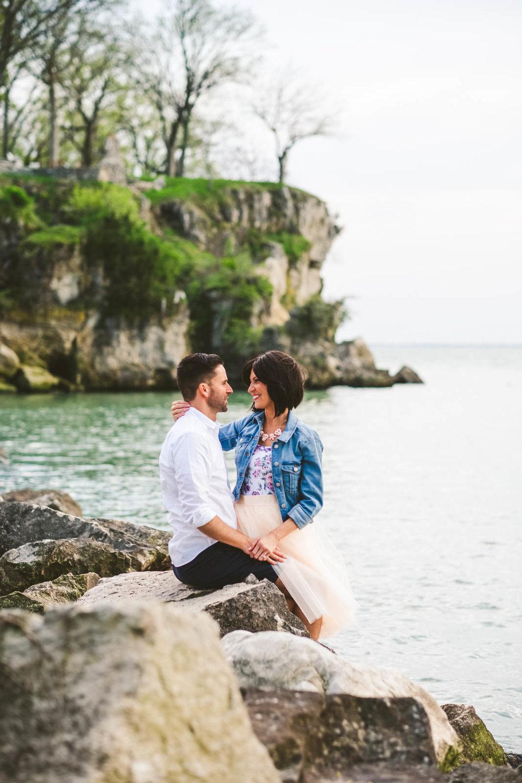 Lake Erie Shore Engagement Session at Catawba Island Club Photography