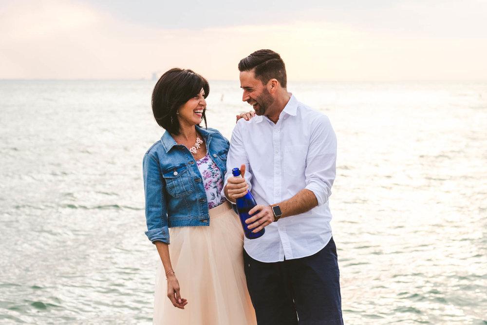 Engagement Session on Lake Erie Celebratory Photography