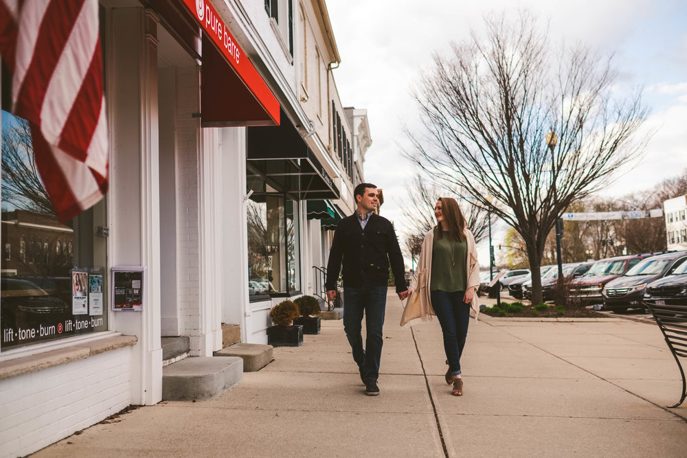 Downtown Perrysburg Engagement Session