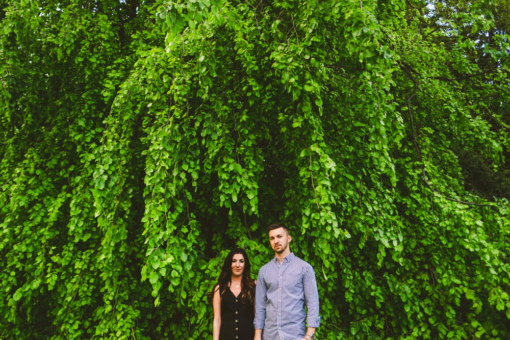 Toledo Botanical Gardens Engagement Session for Engaged Couple in Toledo Ohio