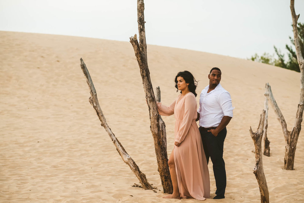 Engagement Session at Silver Lake Sand Dunes with Toledo Wedding Photographers