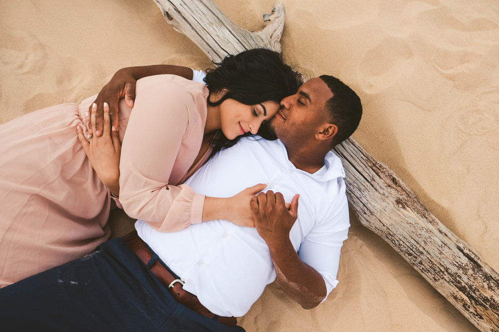 Silver Lake Sand Dunes Engagement Session in Pure Michigan by Toledo Wedding Photographers