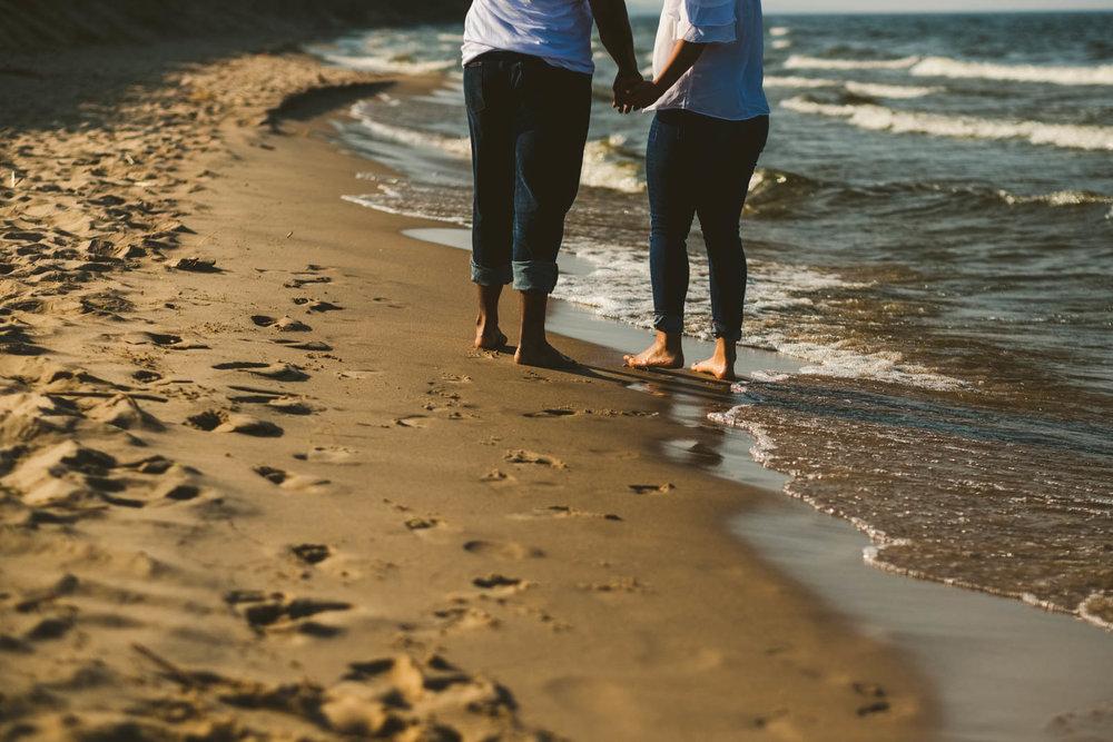 Silver Lake Sand Dunes Shore Engagement Session with Wedding Photographers from Toledo Ohio