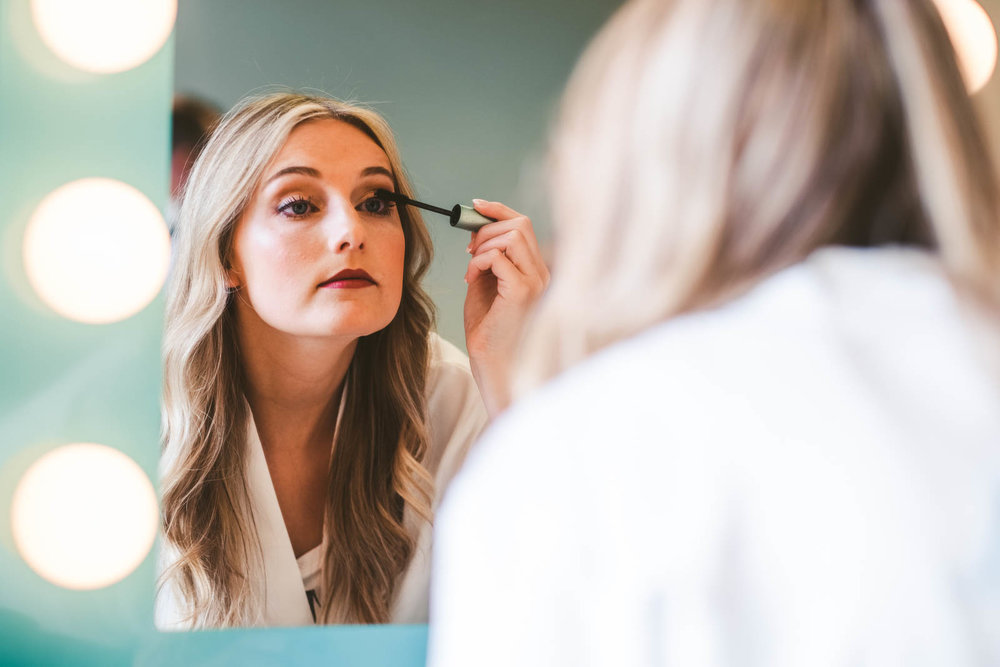 Bride Gets Ready for Wedding Day with Toledo Wedding Photographers at Stone Ridge Golf Club